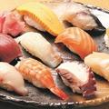 料理メニュー写真お手軽寿司盛合せ