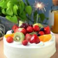 料理メニュー写真ホールケーキご用意致します。