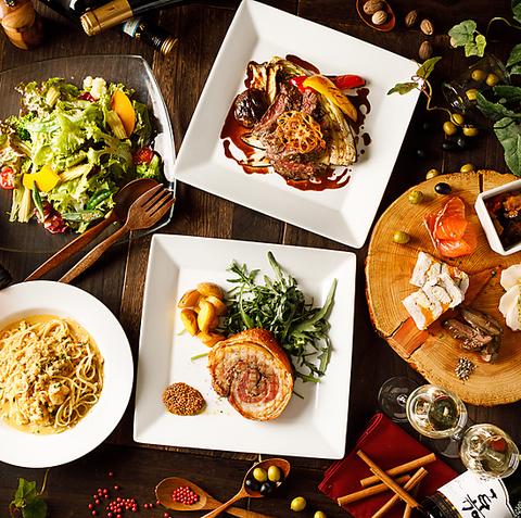 〜パスタ、お肉とおなか一杯満足して頂けるシェフおまかせコース〜