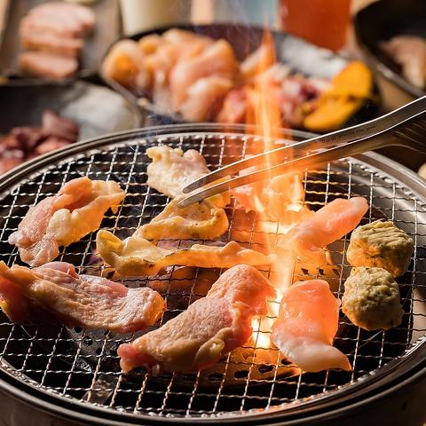 【宴会に◎】ブランド鶏肉使用!鶏焼食べ放題コース1980円(税抜)飲み放題付きは+1280円〜
