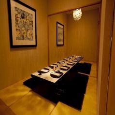 接待や顔合わせに最適なお座敷の完全個室。