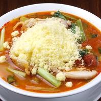 豆乳入り極細麺(太陽のチーズラーメン860円~)