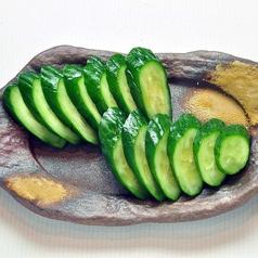 胡瓜の一本漬け/小ナスの漬物/ホタルイカ沖漬け
