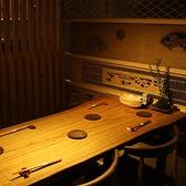 趣きある奥にあるテーブル席