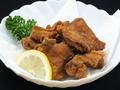 料理メニュー写真鳥から揚げ/ささみチーズ揚げ/手羽ギョーザ
