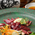 料理メニュー写真赤鶏レバ刺