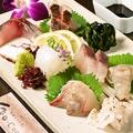料理メニュー写真おまかせ刺身盛り合わせ(7~8種)