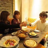 【女子会】暖色の店内は落ち着いてお料理が楽しめる♪