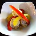 料理メニュー写真ベビーホタテとパプリカのマリネ