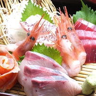 近江町から届く新鮮なお刺身を毎日提供!