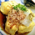 料理メニュー写真揚げ出し/ふわふわ豆腐と玉子蒸し