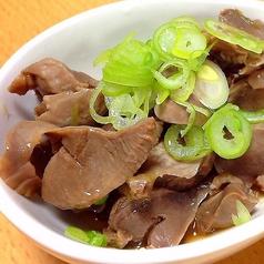 砂肝スタミナ炒めポン酢かけ