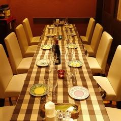 半個室風のお席は8~10名様にぴったり!宴会やお食事会にご利用くださいませ。