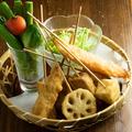 料理メニュー写真野菜串揚げ盛り合わせ 全6本
