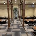 掘りごたつの個室は仕切りを取ると70名様までの宴会場に!貸切時は130名様まで対応可能でございます。※写真はイメージです。