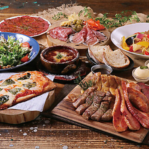 【飲み放題付き】 お肉5種盛りコース お1人様5000円(税込)