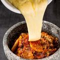 料理メニュー写真滝チーズ~熱々のチーズを滝のように~