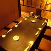 6名様個室。プライベートでもご宴会でもご好評いただいております。