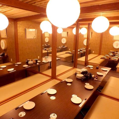 【全席完全個室×九州の地鶏を堪能】天文館通駅すぐ!最大100名様までの宴会が個室で