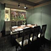 4~6名様までのおもてなしには花と緑の個室室料1000円~1500円