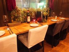 2階のカウンター席は外を眺めらながらお食事出来る人気のお席です。デートや記念日のお食事に是非、ご利用ください。【町田/女子会/記念日/ワイン/野菜/ランチ/ハンバーグ】