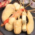 料理メニュー写真串揚げ盛り5種