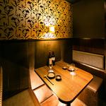 デート,女子会におススメのBOX席もご用意しています♪種類豊富なドリンクを愉しめる2H飲み放題980円!