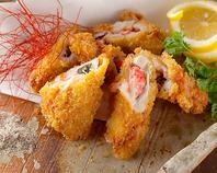 鶏ササミの梅しそチーズ揚げ