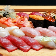 丹念な仕事の江戸前寿司