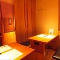 木のぬくもりを感じられる半個室のお部屋です。宴会や接待でご利用ください。