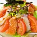 料理メニュー写真北海ダコとサーモンのサラダ
