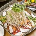 料理メニュー写真韓国風鉄板板鍋