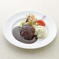 料理メニュー写真国産粗挽きハンバーグステーキ