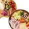 料理メニュー写真チーズフォンデュの具材とモッツアレラチーズしゃぶ鍋のセット