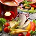 料理メニュー写真彩り野菜のバーニャカウダ 菜園風