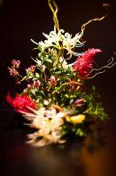 個室に生け花
