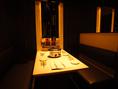 半個室になるテーブル席