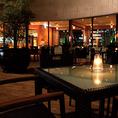 夜風に吹かれテラスで楽しむ美味しいお酒とお料理に舌鼓♪(春~秋の期間限定)