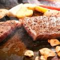料理メニュー写真鉄板焼き牛ステーキ&牛タンステーキ