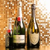 シャンパン各種もご用意しております!