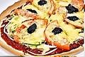 料理メニュー写真マルゲリータ(バジル、モッツァレラチーズ)