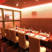 ゆったりしたテーブル個室は女子会や飲み会等にもおすすめです。10名様から14名様までご利用頂けます、要予約。