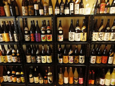 50種類以上の本格焼酎を含む100種類以上のお酒!ほとんどの本格焼酎が一杯350円!
