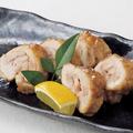 料理メニュー写真国産鶏の天然塩焼き柚子胡椒添え