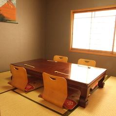 6名様でご利用頂けるお座敷タイプの個室です。