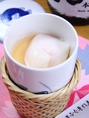 口の中でとろける贅沢食感…『白子茶碗蒸し』は大人気でございます。