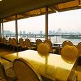 店内どの席からも東京湾が見える席になってます。