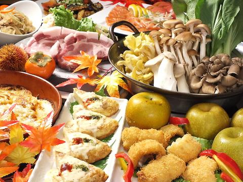 旬食材を使った料理が人気!宴会コース多数!3時間飲み放題付コース3500円~!!