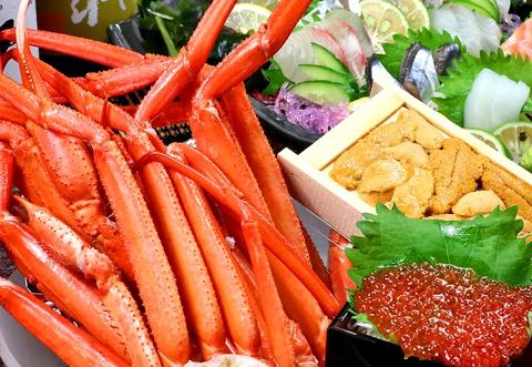 生簀から鮮度抜群の活魚をご提供。食べ放題コースは1500円~!個室は最大50名OK