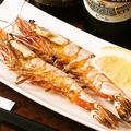 料理メニュー写真特製海老の塩焼き(2本)